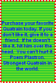 Purchase a Poem Plasltron